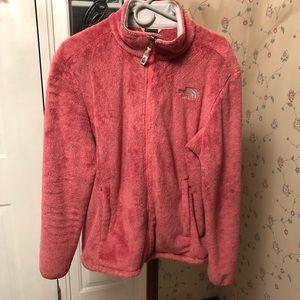 North Face pink fleece zip up xl